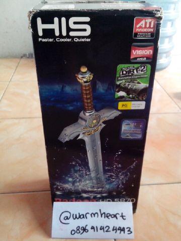 HIS 5870 BATA EDITION 1GB DDR5 256Bit FULLSET. Bandung