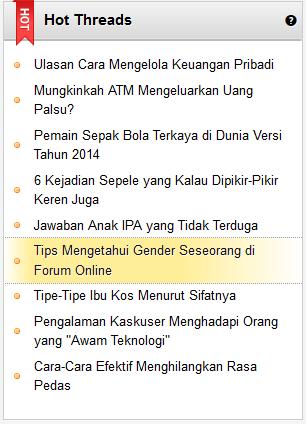 Mengetahui gender seseorang di Forum Online