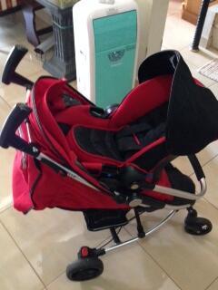 Jual Stroller Baby ELLE warna Merah