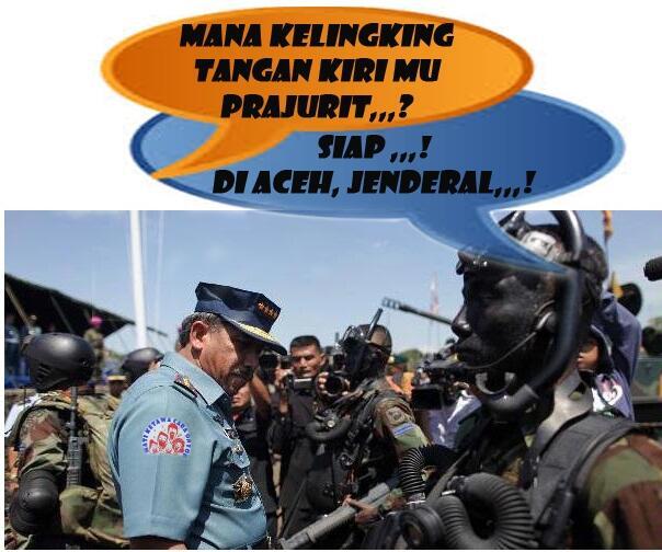 Siap Jenderal, Jari Kelingking Tangan Kiri Saya Di Aceh...!