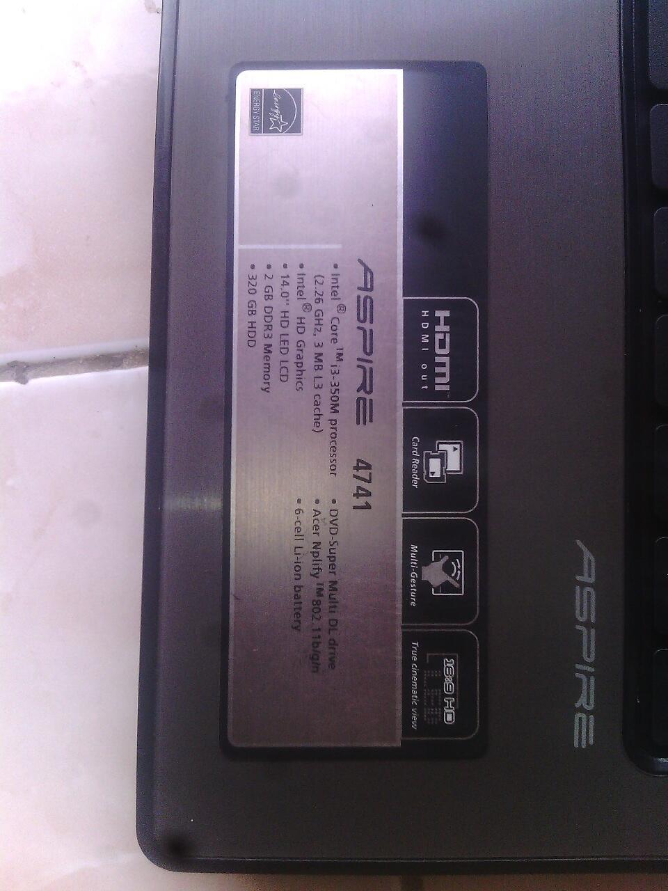 Acer 4741 Core i3 murah jogja