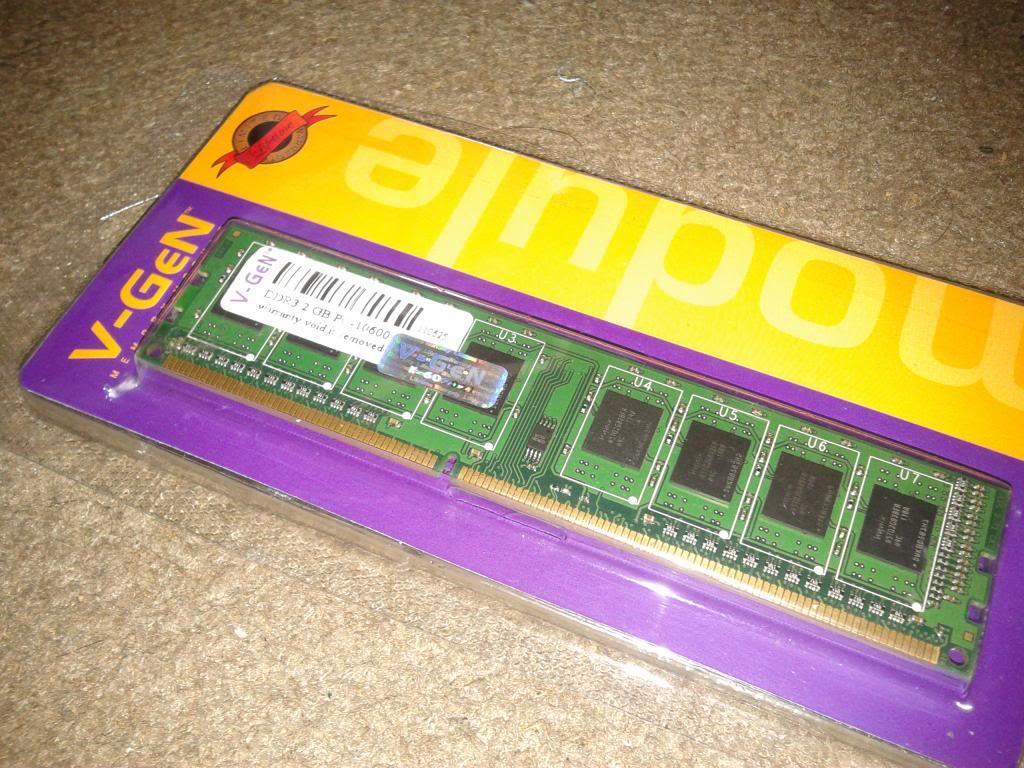 memori DDR 3 2gb,4gb,8gb pc 10600 Vgen