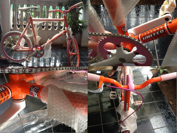 Sepeda Fixie United Soloist Baru Ex hadiah, orange.... Murah jossss