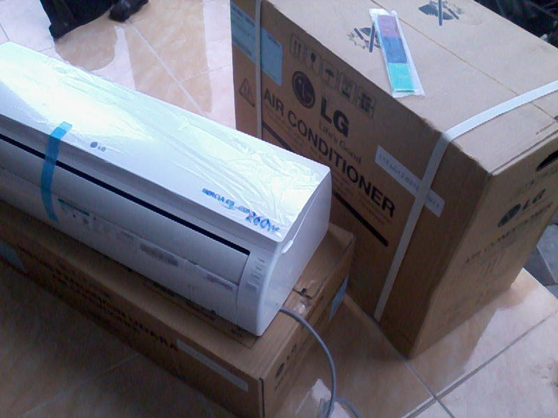 Terjual AC New LG Hercules Mini Low 260 Watt Free Pasang