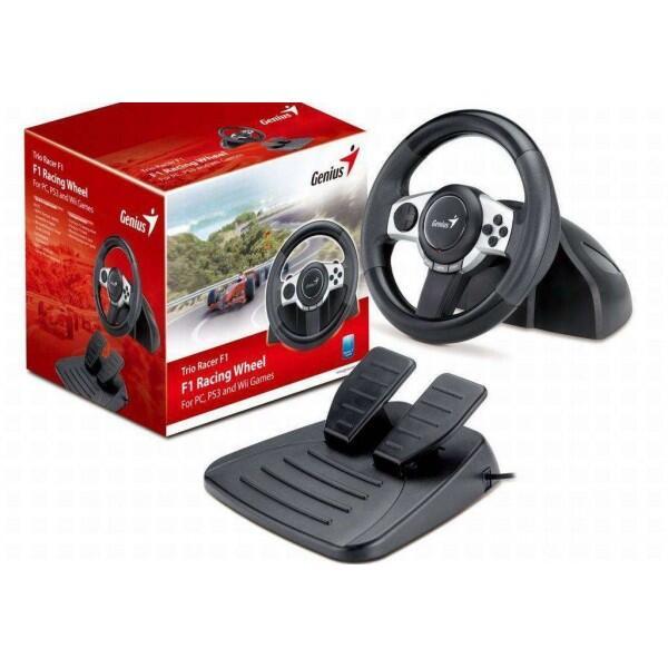 Genius Gaming Trio Racer F1 ( PS3 / Nintendo Wii / Pc Vibration )