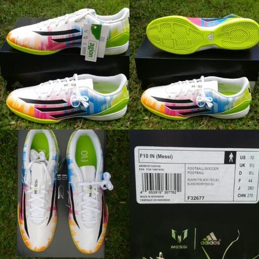 Terjual jual sepatu futsal Adidas F10 in rainbow messi original  8728c88bfc