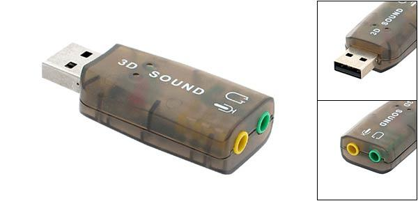 Cari USB Male converter Cable to 3.5mm Female audio jack