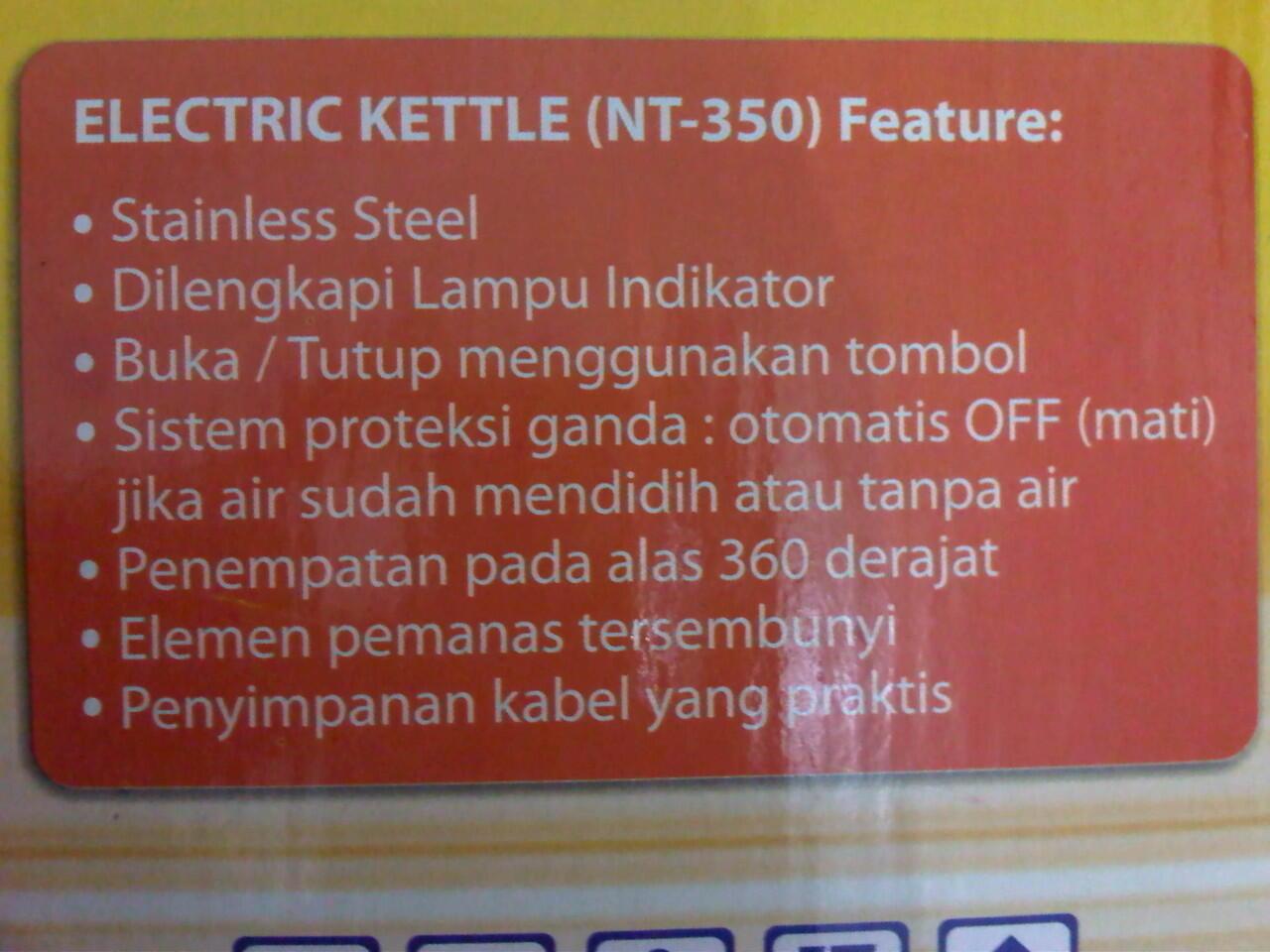 barang hadiah - nanotec nt 350 eletric kettle semarang 99rb
