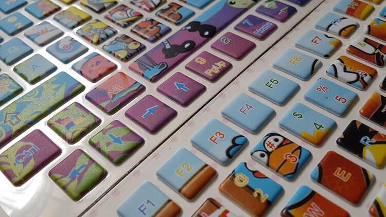 "Keyboard Protector 10"" dan 14""- Sticker (Angry bird, Spongebob, Pooh, Mickey Mouse)"