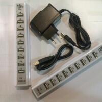 usb hub 10 port plus adaptor