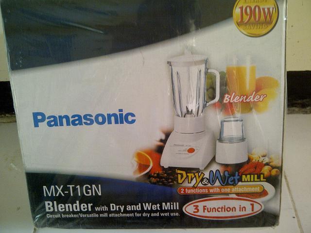 Blender Juicer merk PANASONIC segel kerdus dan kartu garansi