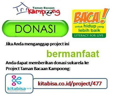 Donasi untuk Taman Bacaan Kampoong