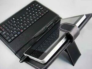 Leather Case Keyboard untuk Tablet 10 Inch USB Mini
