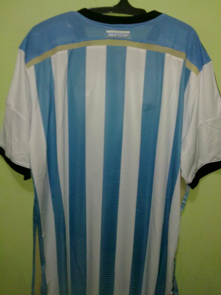 Jersey Grade Ori Argentina Home World Cup 2014