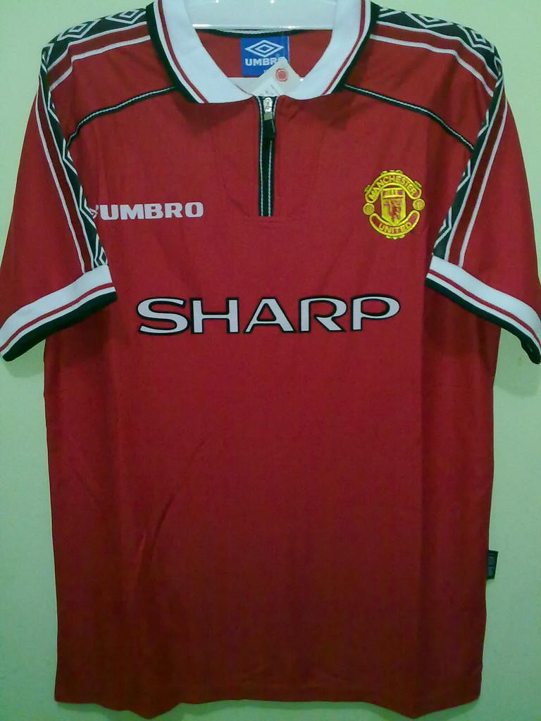 Jersey Grade Ori Manchester United Home 1999 Treble Winner