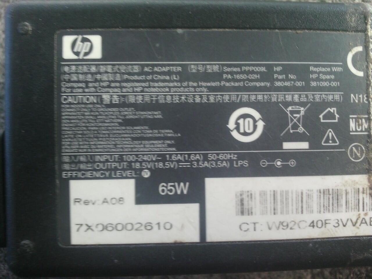 Charger Ori Laptop Hp Model Lama 19v 3,5 A Solo MURAH