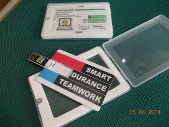 pusat souvenir flashdisk unik kartu & rubber free design murah