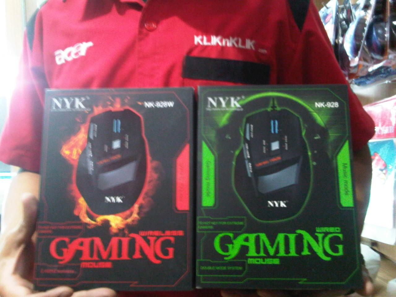 Mouse Gamming NYK NK-W928 (Red) Wireless Bandung
