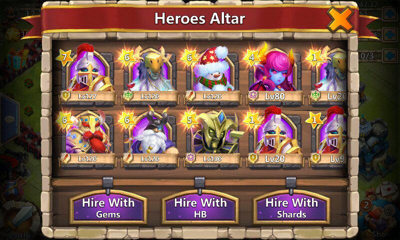 Jual ID castle clash Full legend (rare)