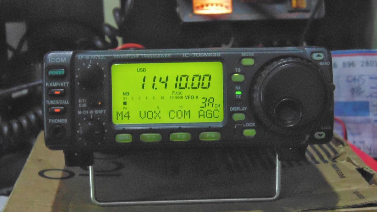 Radio komunikasi Icom IC-706MKIIG fullset