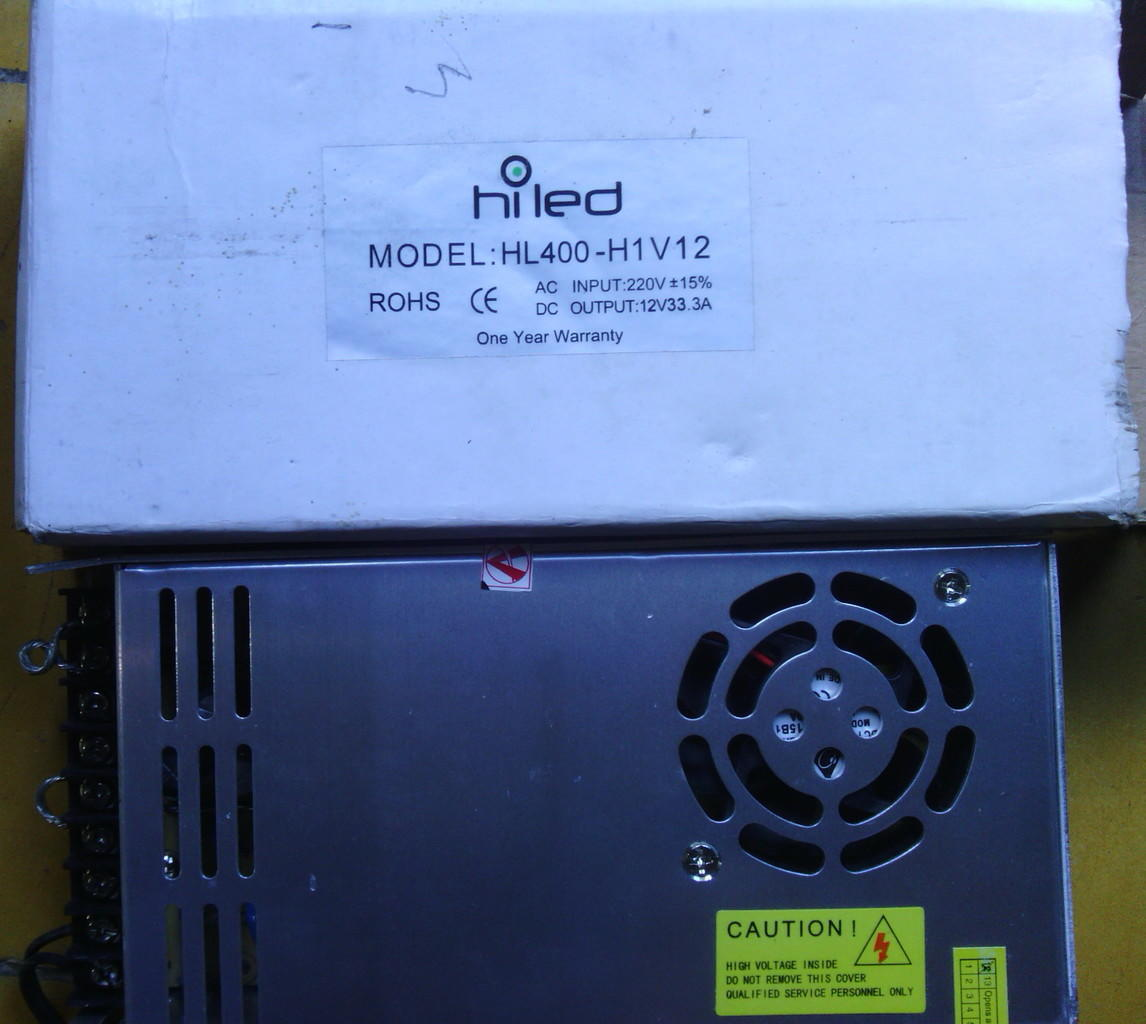 Switching Power Supply HILED 12V 33,3A Adjustable (SECOND!!!)
