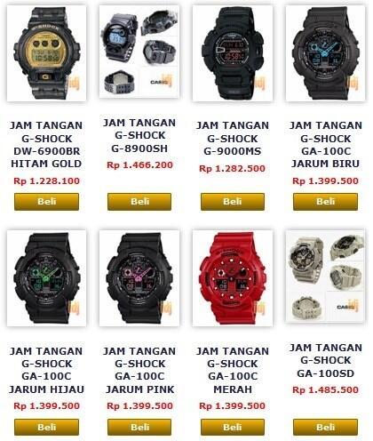 Terjual TEMPAT JUAL JAM TANGAN CASIO G SHOCK ORIGINAL BUKAN REPLIKA ... 808f6ac265