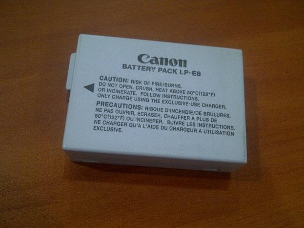 batre / battery canon LP E8 for 550D, 600D , dkk