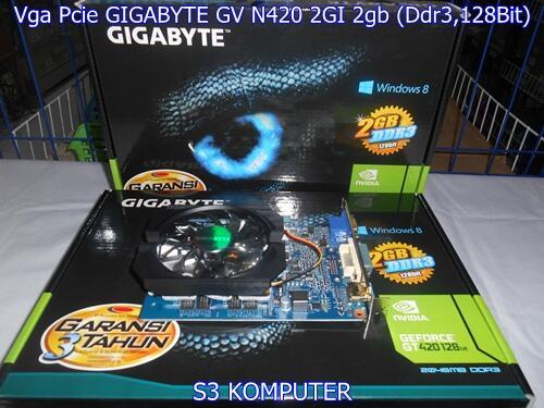 Vga Pcie GIGABYTE GV N420 2GI 2gb (Ddr3,128Bit)