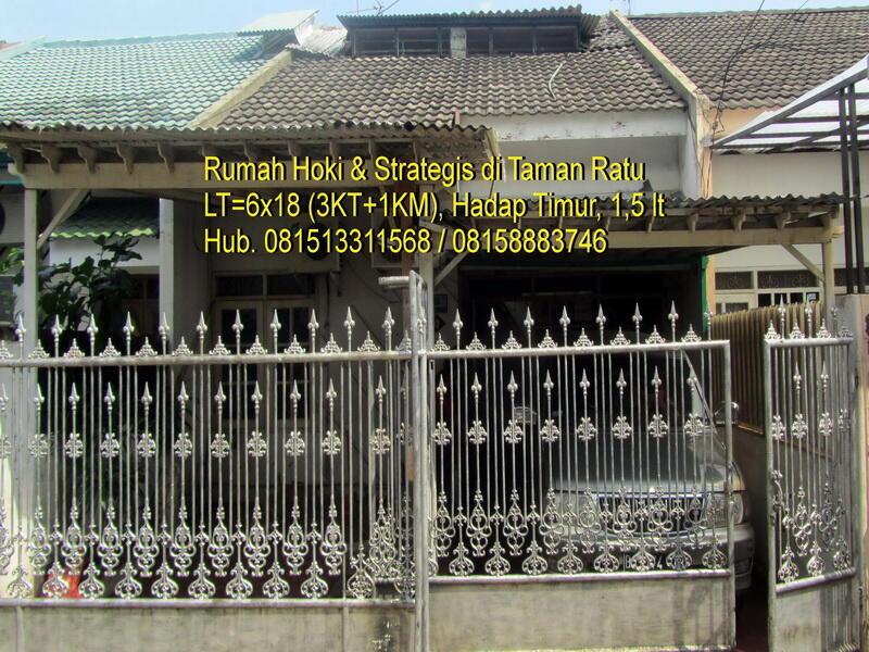 Dijual cepat Rumah Hoki di Taman Ratu Jakarta Barat sangat strategis