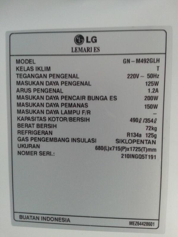 Jual Cepat Kulkas LG GN-M4920LH