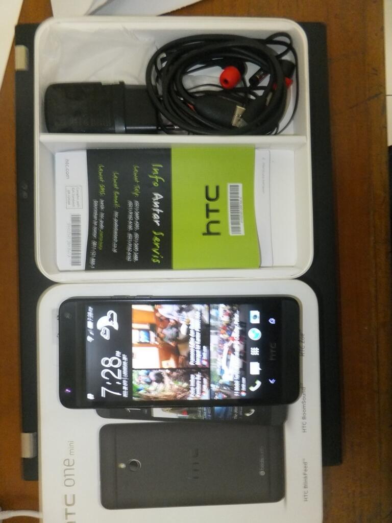 HTC One mini 2nd black hitam garansi TAM