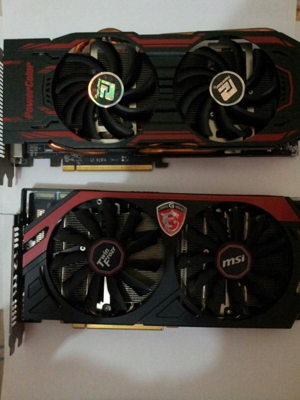 WTS MSI R9 280X Gaming & Power Color Turbo Duo R9 280X 3GB OC