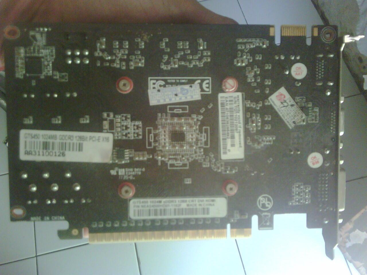 VGA DA GTS 450 ddr 3 128 Bit Second Depok