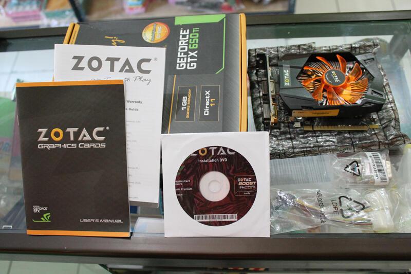 Jual santai VGA Zotac GTX 650ti 1GB Second