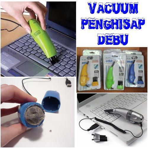 Mini Vacuum untuk laptop nyaman dibawa, mudah dipakai!!