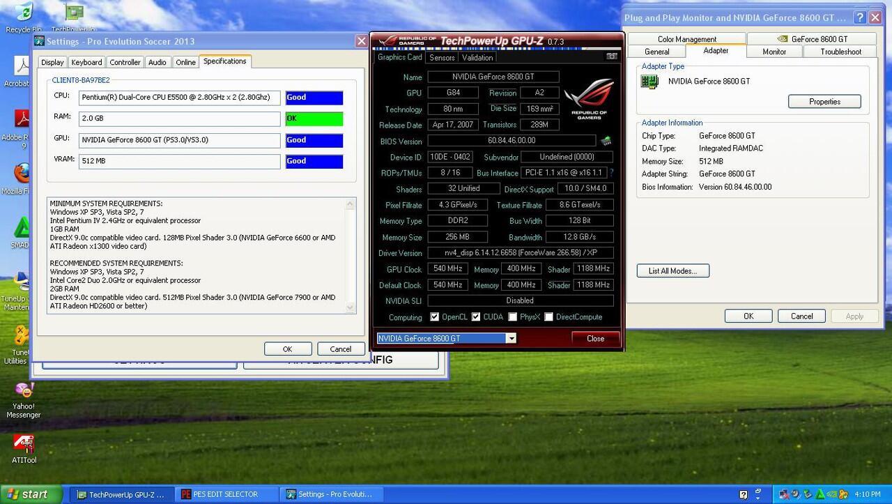 VGA imut buat maen PES2013 n game online