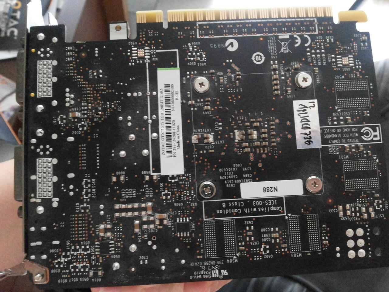 Jual VGA Zotac GTX 750 Ti 2GB 2Bulan Pakai + Bonus mini HDMI