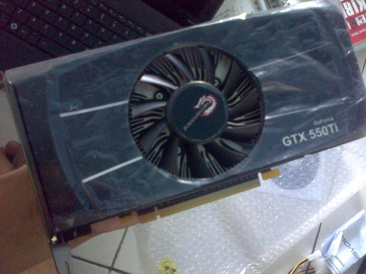 Dijual VGA MidasForce GTX 550ti 1GDDR5 192 bit