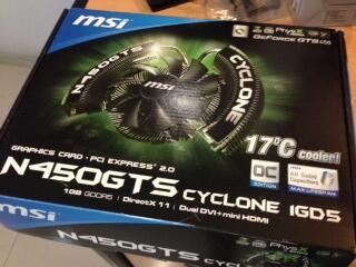 Jual VGA card MSI 450 GTS Cyclone 1GD5/OC