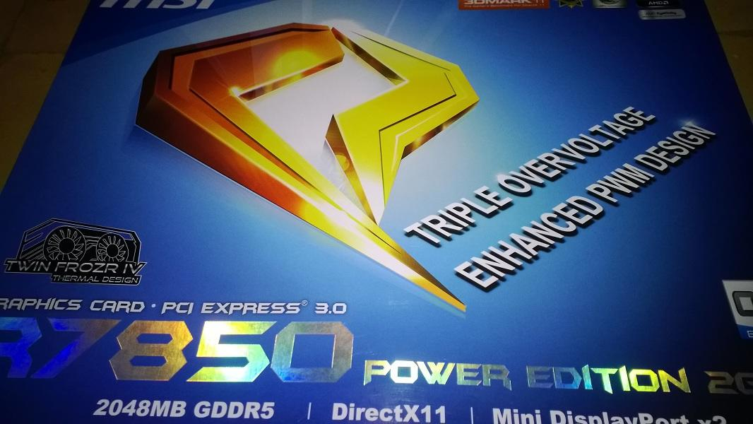 MSI AMD 7850 Power Edition second murah aja