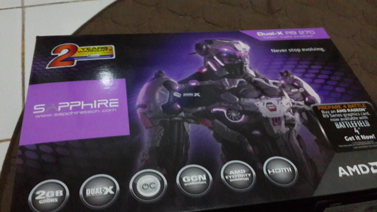 BNIB Vga Gaming Sapphire AMD radeon R9 270 dual x boost 2gb Hrg 2nd gan