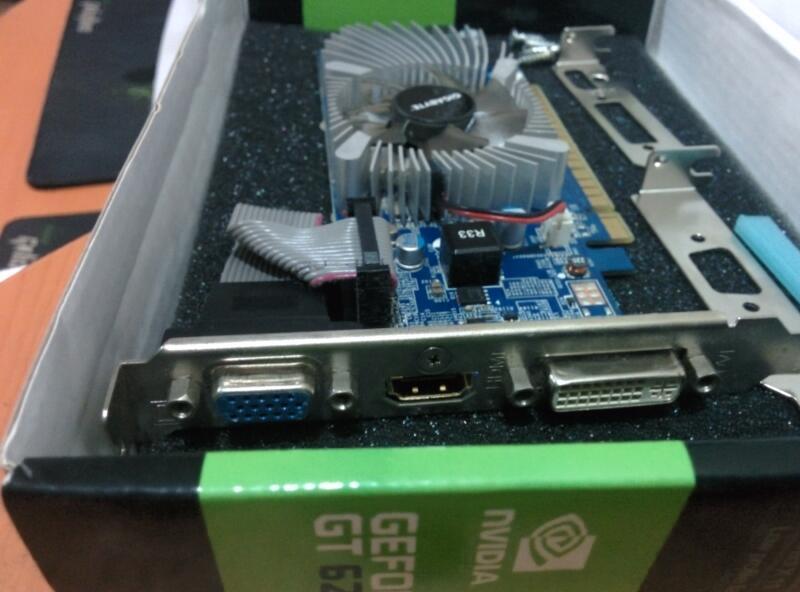 GIGABYTE GT 620 1GB DDR3 (2nd , jarang dipake disimpen dibox terus)