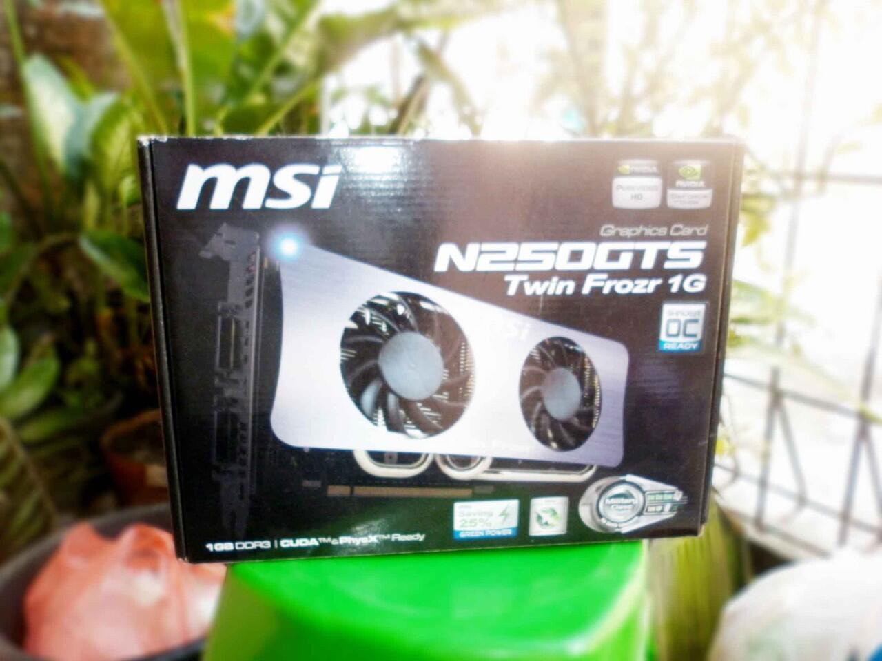 ░▒▓█ VGA MSI GTS 250 512 MB 256 BIT Twin Frozr OC Edition (SOLO) █▓▒░