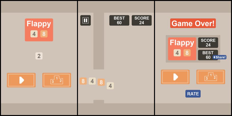 Flappy48 - gabungan 2048 dan Flappy Bird | KASKUS