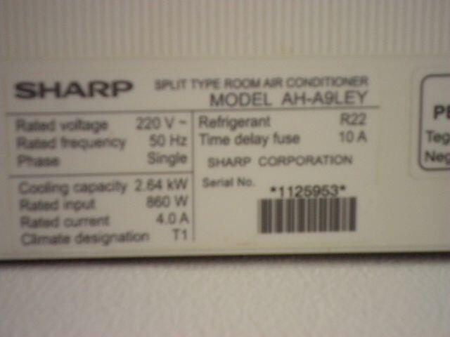 Dijual Segera 2 Unit AC Sharp 1 PK Kondisi Bagus dan Mulus (Bekasi Timur)