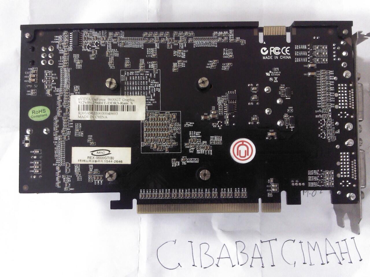 VGA GeForce 9600GT Digital alliance DDR3 512mb/256bit BANDUNG