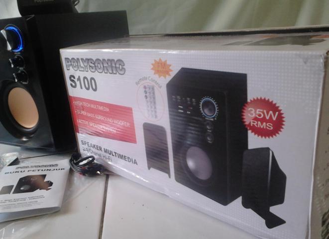 speaker aktif buat komputer/hp/dvd/vcd/mp3/mp4 netbook/laptop bandung-cimahi speker
