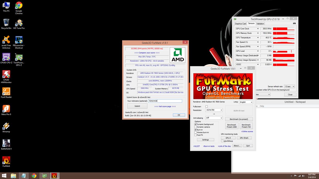 Jual HIS 7850 fan 2gb gddr5 256bit