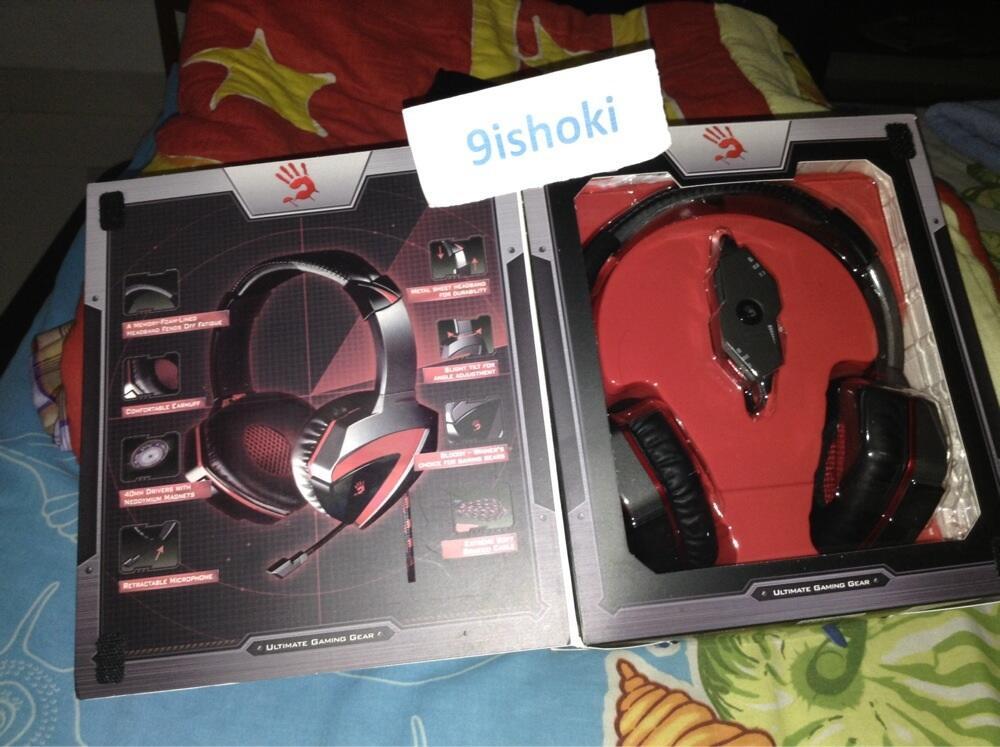 Headset gaming bloody G501 7.1 surround 2nd like new, masuk bro !!