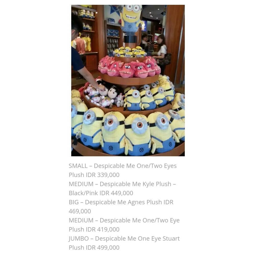 Terjual Jual Boneka Despicable Minion Unicorn Original Universal Studio Singapore